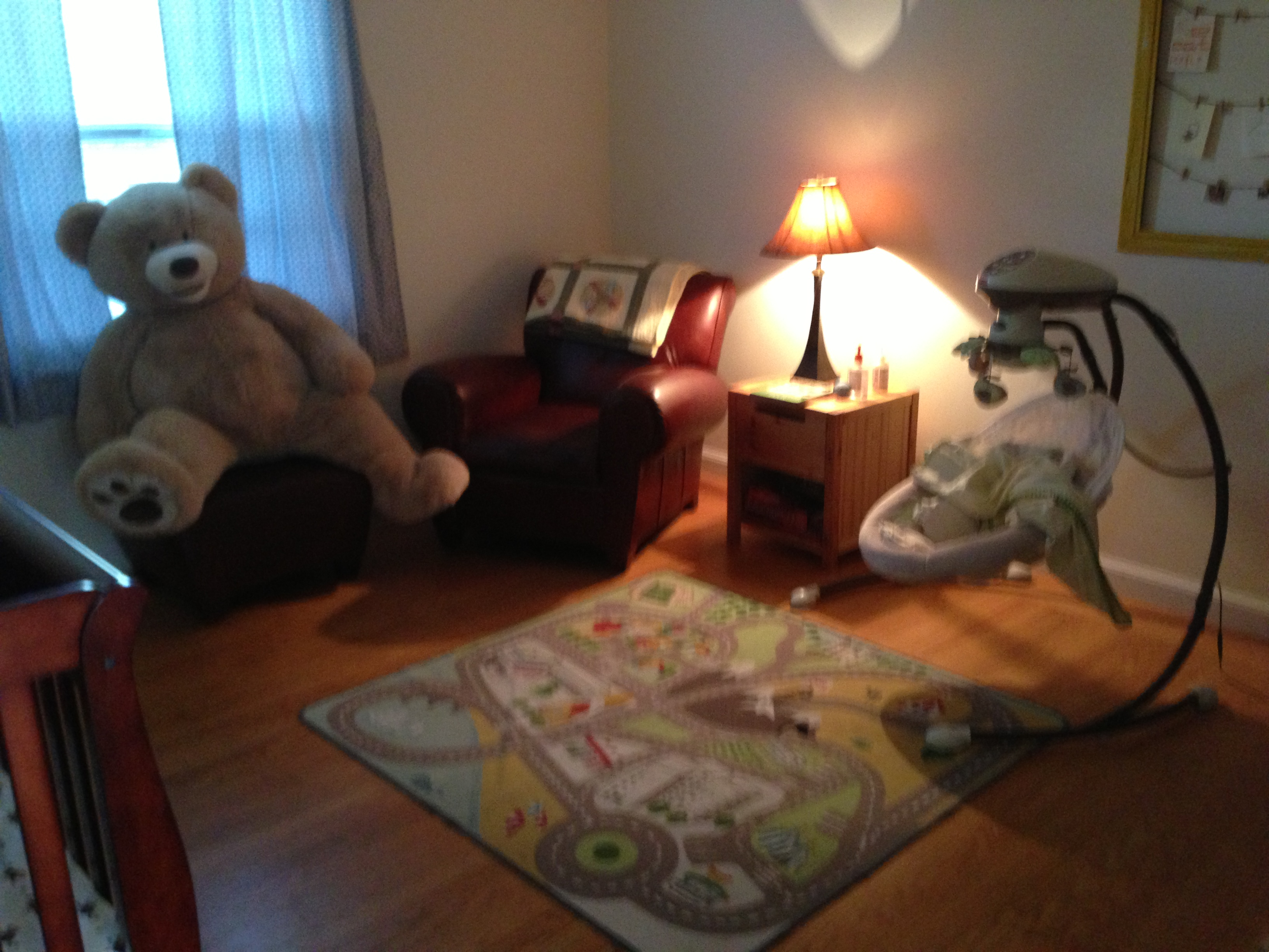 Baby Cancan actually has his own space now (and we have a separate room to read in, if need be).