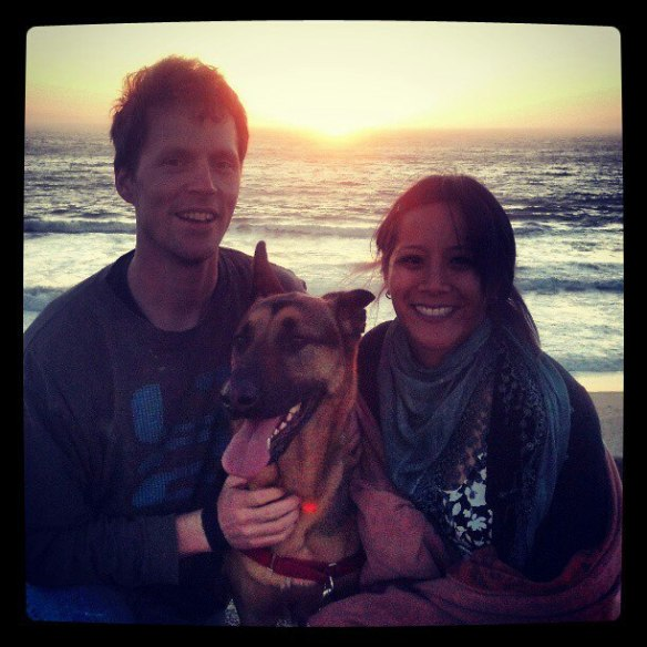 Jeff, Jenn and their fabulous pup, Joey. (Stolen from FB)