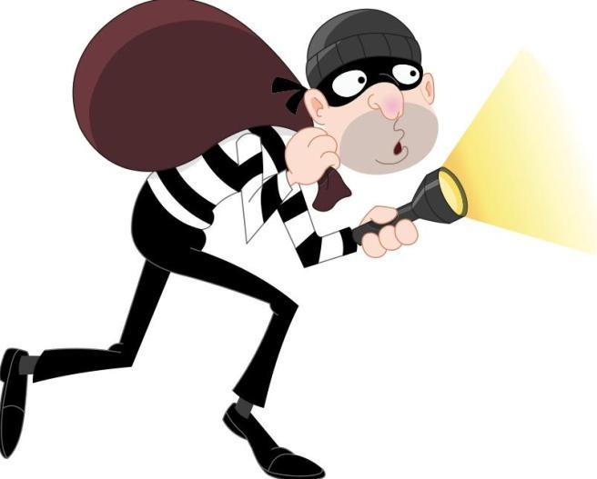 Booga booga burgler.