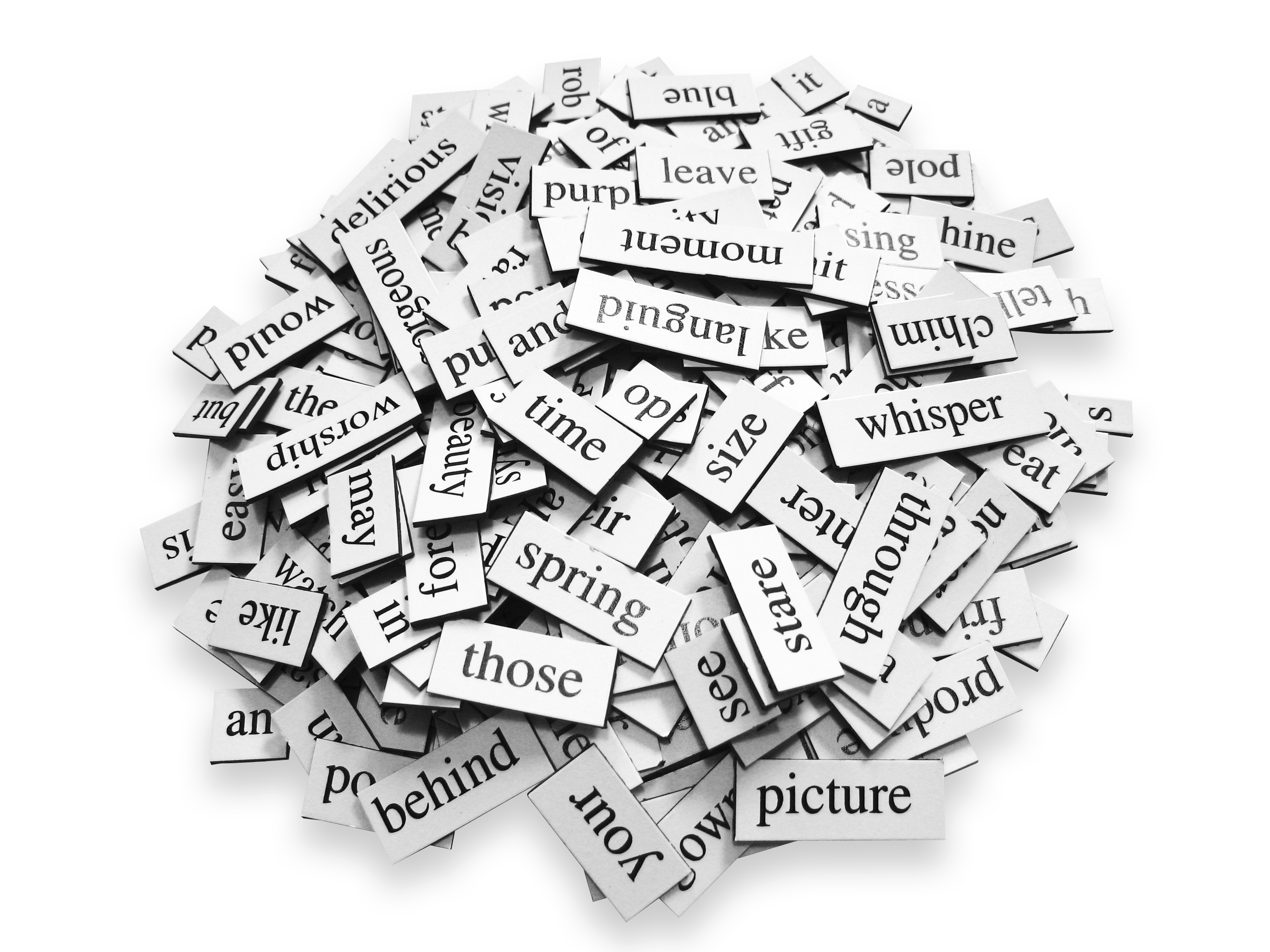 Pile of Words Royalty Free Stock Photo.