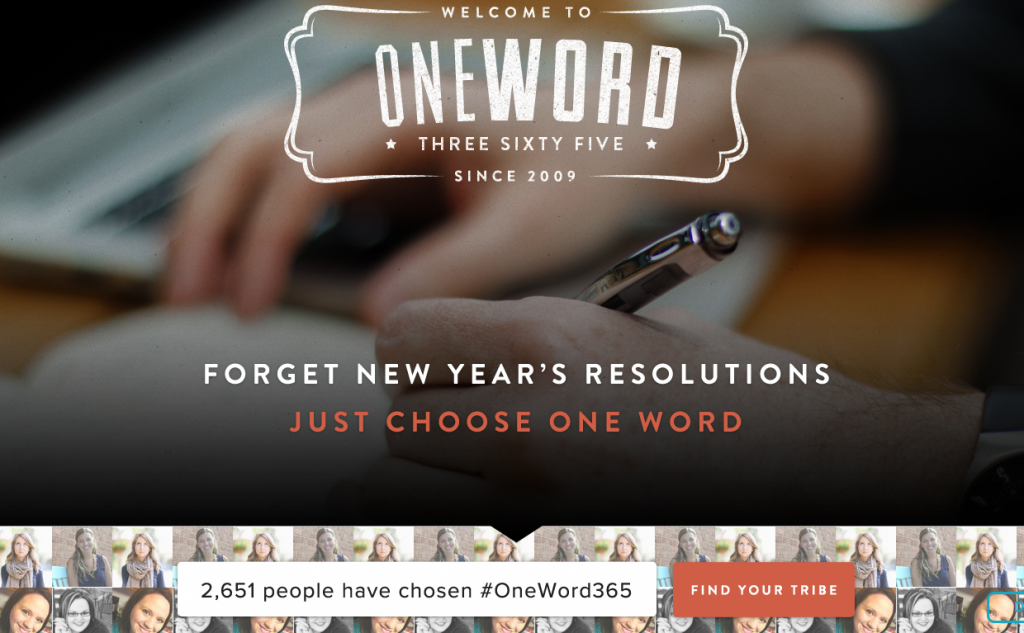 Go visit www.oneword365.org if you haven't already!