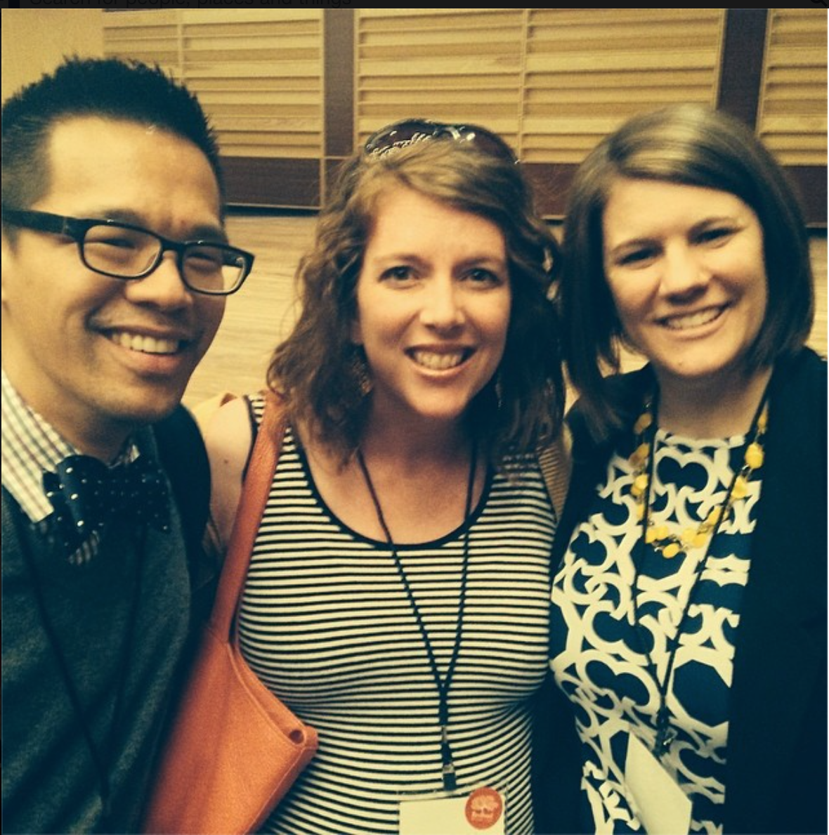 FFW - such a fabulous experience.  (Here with Jeff Chu & Rachel Held Evans).