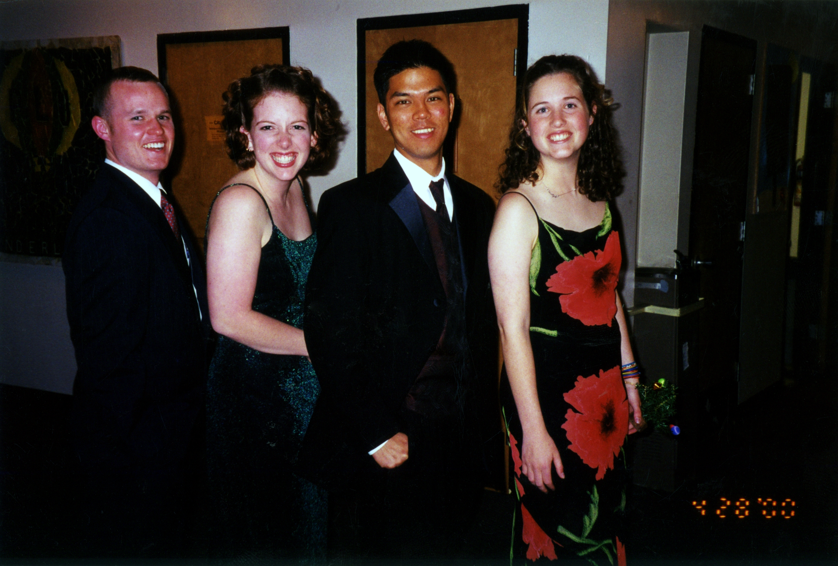 Proof of friendship: Doug, Cara, Michael & Holly (2000).