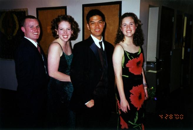Proof of friendship: Doug, Cara, Michael & Holly (2000).