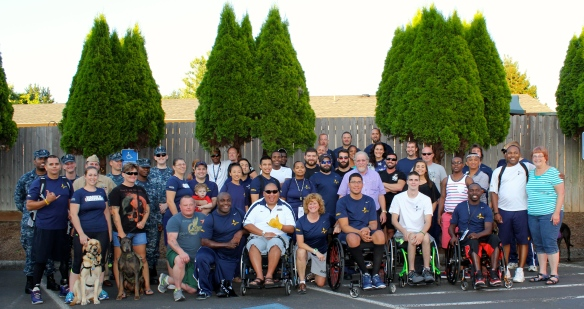 Again, some of the warriors, coaches and volunteer staff pictured afterwards.