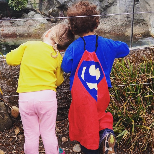 At the zoo with Lois Lane. Photo cred: Steph.