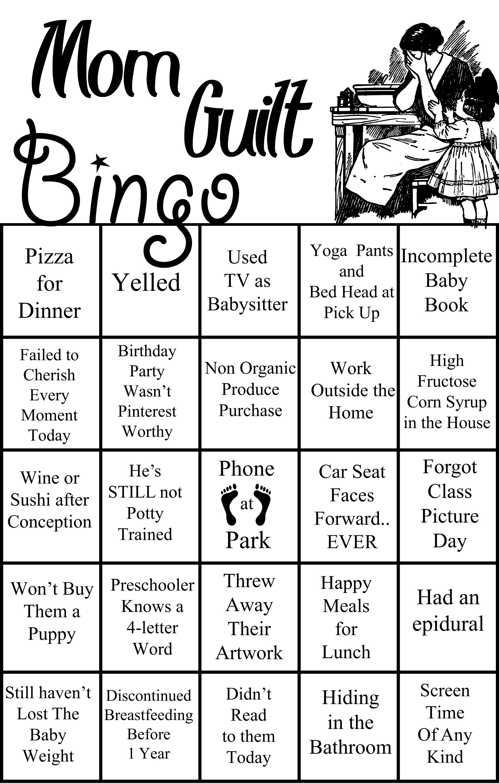 Drag Bingo Oakland Mom Guilt Bingo